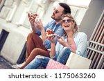 portrait of an happy couple... | Shutterstock . vector #1175063260
