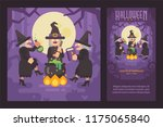 three wicked witch sisters... | Shutterstock .eps vector #1175065840