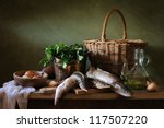 Still Life With Fish And Onions