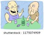 drunk conversation  feast ... | Shutterstock .eps vector #1175074909