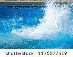 splash water in the pool after... | Shutterstock . vector #1175077519