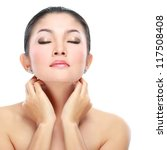 beautiful asian woman face with ... | Shutterstock . vector #117508408