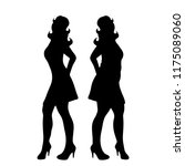 vector silhouette of slim and... | Shutterstock .eps vector #1175089060