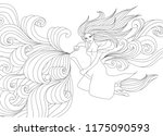 halloween coloring pages.... | Shutterstock .eps vector #1175090593