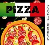 pizza menu template  vector... | Shutterstock .eps vector #117509149