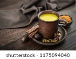 traditional indian drink... | Shutterstock . vector #1175094040