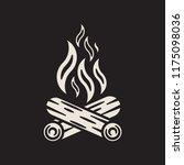 bonfire icon. campfire logo | Shutterstock .eps vector #1175098036
