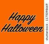happy halloween text | Shutterstock . vector #1175098669