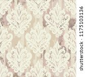 seamless vintage pattern with... | Shutterstock .eps vector #1175103136