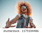 young stylish woman with very... | Shutterstock . vector #1175104486