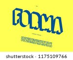 vector forma 3d bold font... | Shutterstock .eps vector #1175109766