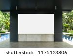 empty whiteboard with swimming...   Shutterstock . vector #1175123806