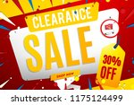 clearance sale banner template | Shutterstock .eps vector #1175124499