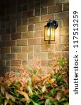 Vintage Brick Wall And Light...