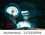doctor with virtual reality... | Shutterstock . vector #1175132926