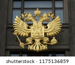 coat of arms of russia on the... | Shutterstock . vector #1175136859