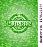 bobbin green emblem. mosaic... | Shutterstock .eps vector #1175138899