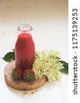 Strawberry Elder Flower Syrupjuice Smoothie - Fine Art prints