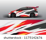 rally racing car wrap decal and ...   Shutterstock .eps vector #1175142676