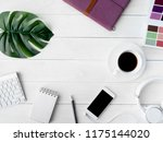 top view of graphic design... | Shutterstock . vector #1175144020