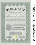 green certificate diploma or... | Shutterstock .eps vector #1175148583