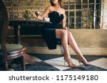 fashion details of elegant... | Shutterstock . vector #1175149180