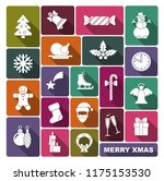 a collection of new year and... | Shutterstock .eps vector #1175153530