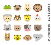 animal icons set   Shutterstock .eps vector #1175160556