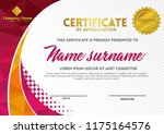 certificate template with... | Shutterstock .eps vector #1175164576