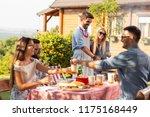 group of friends making... | Shutterstock . vector #1175168449