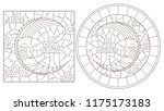 set of contour illustrations of ...   Shutterstock .eps vector #1175173183