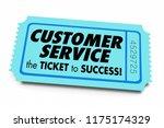 customer service ticket to... | Shutterstock . vector #1175174329
