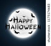 happy halloween. the... | Shutterstock .eps vector #1175174683