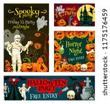 halloween party posters for... | Shutterstock .eps vector #1175176459