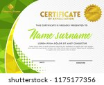 certificate template with... | Shutterstock .eps vector #1175177356