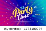 banner it's party time. vector... | Shutterstock .eps vector #1175180779