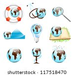 different earth designs set... | Shutterstock .eps vector #117518470