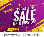 sale banner template purple | Shutterstock .eps vector #1175185780