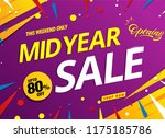 mid year sale banner template... | Shutterstock .eps vector #1175185786