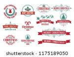 christmas vector logo for...   Shutterstock .eps vector #1175189050