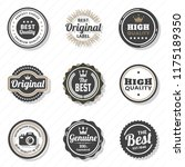 vintage retro vector logo for... | Shutterstock .eps vector #1175189350