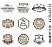vintage retro vector logo for... | Shutterstock .eps vector #1175189353