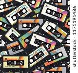 retro vintage cassette tape... | Shutterstock .eps vector #1175191486
