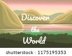 discover the world vector... | Shutterstock .eps vector #1175195353