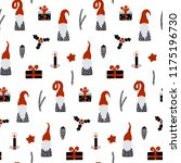 seamless pattern with nordic... | Shutterstock .eps vector #1175196730