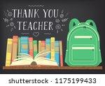 thank you teacher. green school ... | Shutterstock .eps vector #1175199433