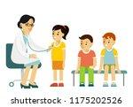 pediatrician doctor concept.... | Shutterstock .eps vector #1175202526
