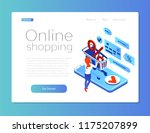 purchase in an online store... | Shutterstock .eps vector #1175207899