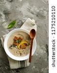 mushroom soup with champignons   Shutterstock . vector #1175210110