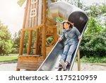 adult or teenager girl having... | Shutterstock . vector #1175210959